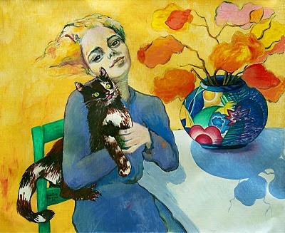 dona i gat_Myrtille Henrion-Picco