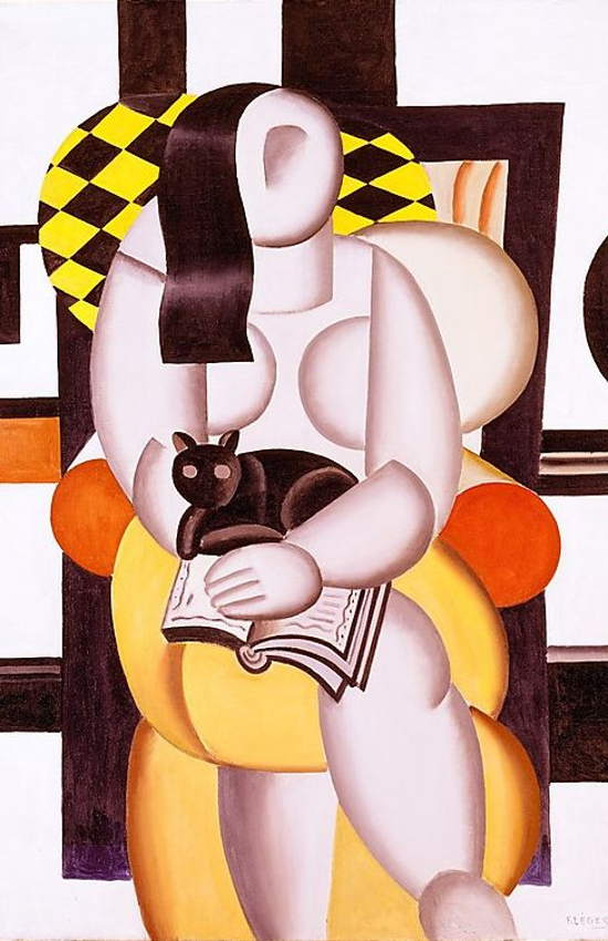 Fernand Léger. Woman Reading with a Cat, 1921