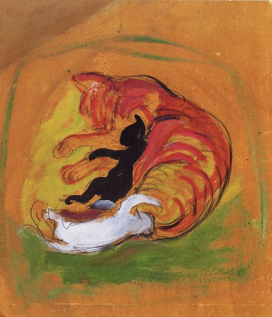 Franz Marc Cat with kittens
