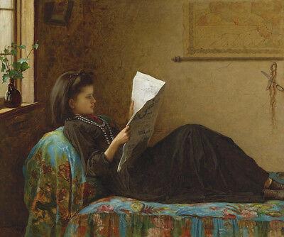 Girl Reading Newspaper, Eastman Johnson