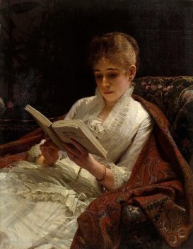 Ivan Kramskoi (1837-1887) Portrait of a woman reading, 1881