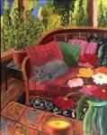 Summer Porch with Cat, CarolKeiser