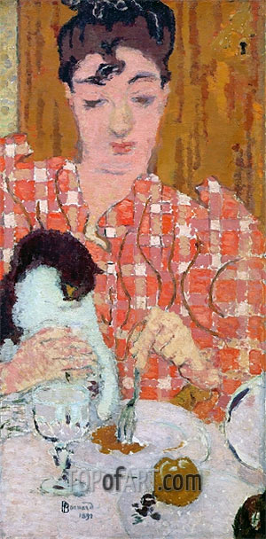 The Checkered Blouse, Pierre Bonnard, 1892