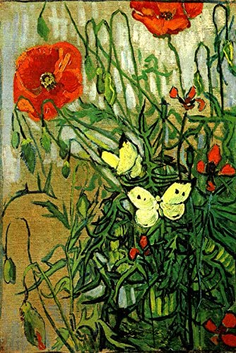 Butterflies and Poppies, Vincent Van Gogh