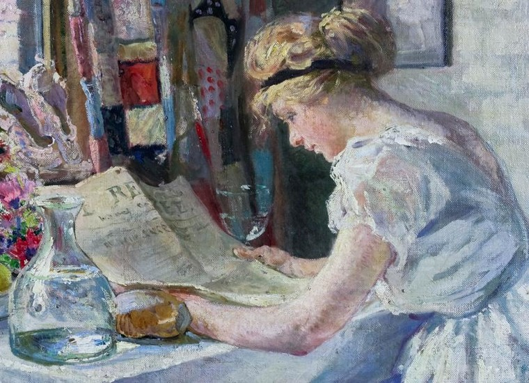 Charles Sims, Reading the news
