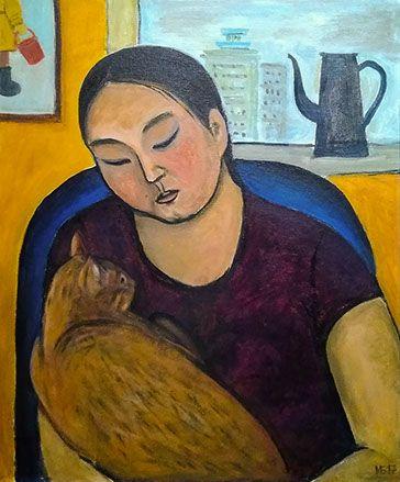 INDIRA BALDANO artist painter naive art Индира Балдано живопись