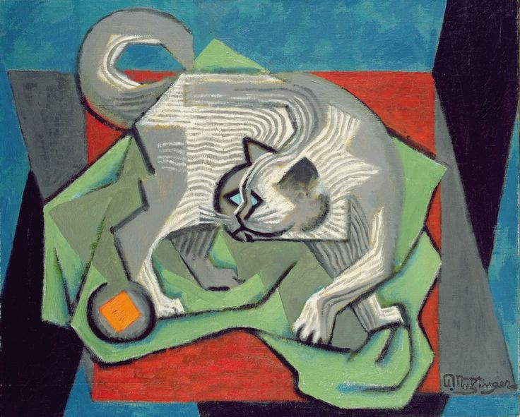 Jean-Metzinger-French-1883-1956-The-cat-c.-1915
