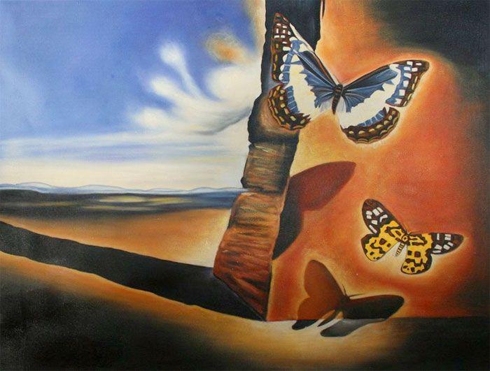 landscape with butterflies, 1956, Salvidor Dali