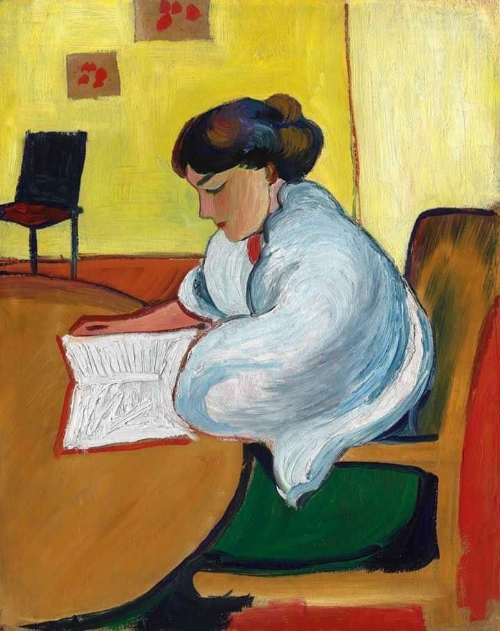 Auguste Macke woman reading