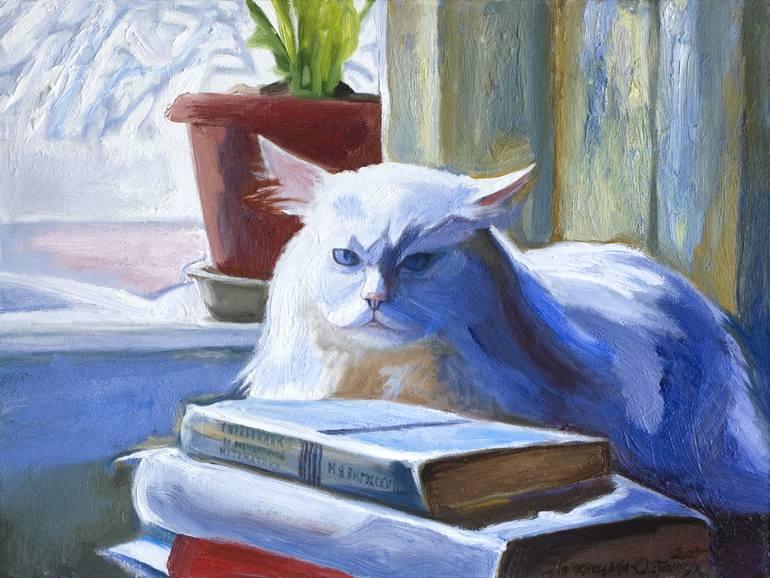 Cat philosopher, by Olena Kamenetska-Ostapchuk