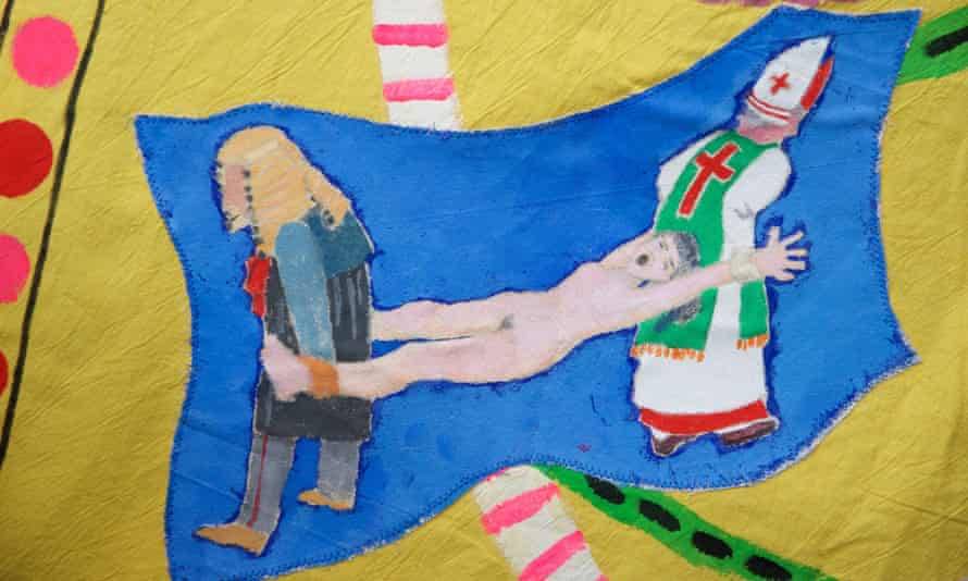 From Ireland--Detail from a marching banner for the Artists' Campaign to Repeal the Eighth Amendment Banner, by Alice Maher, Rachel Fallon and Breda Mayock. Photograph by Alison Laredo, Courtesy the artists
