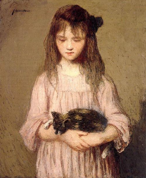 Julian Alden Weir - Little Lizie Lynch (1910)