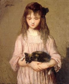 Julian Alden Weir - Little Lizie Lynch (1910)