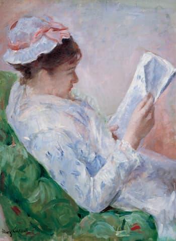 Mary Cassatt, woman reading