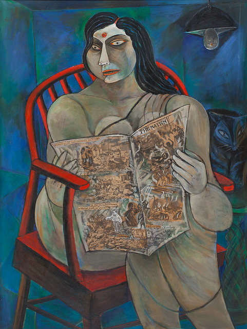 Paritosh Sen, Woman reading a newspaper