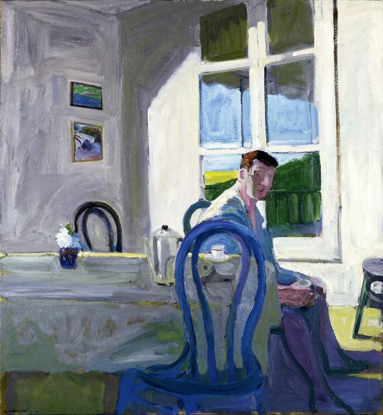 Paul Wonner, Model Drinking Coffee, 1964