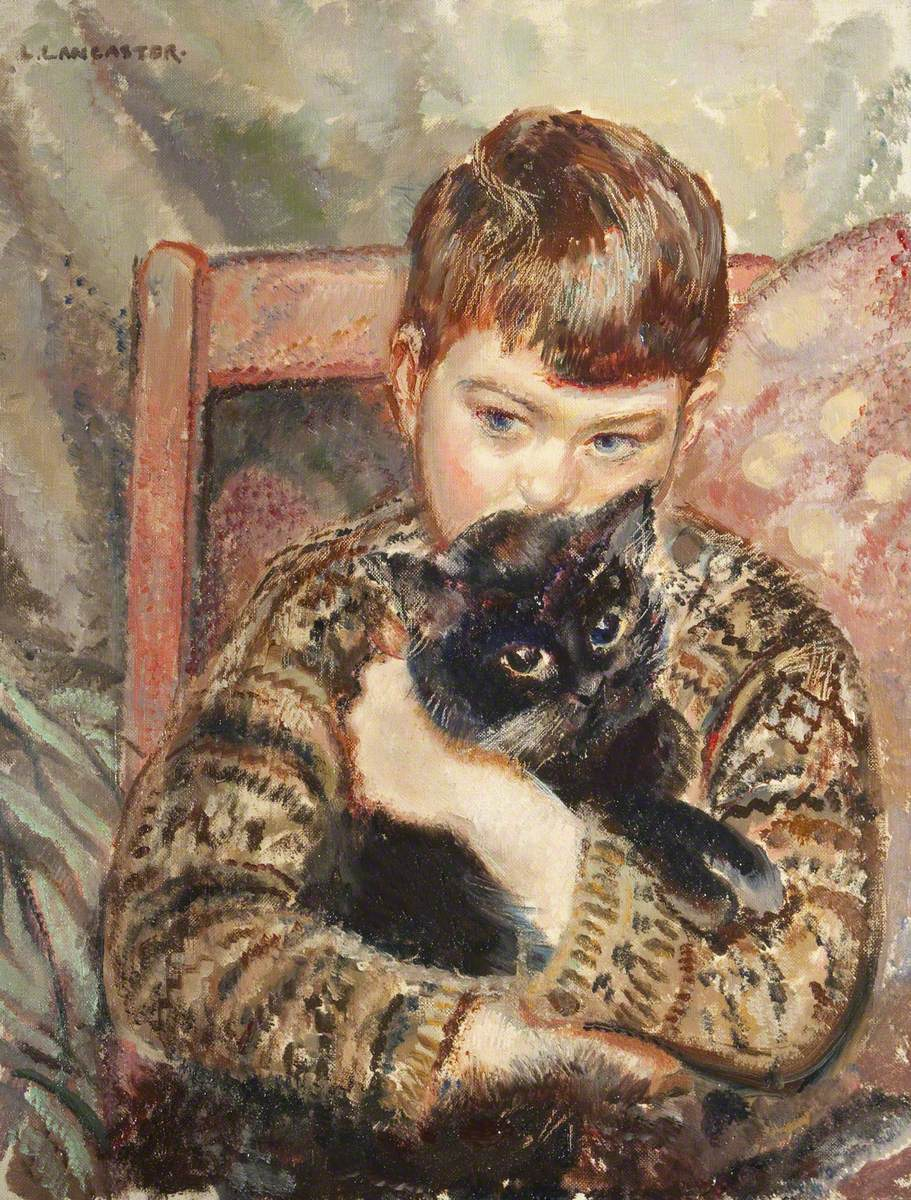 Lancaster, Lilian, c.1887-1973; The Boy and the Cat