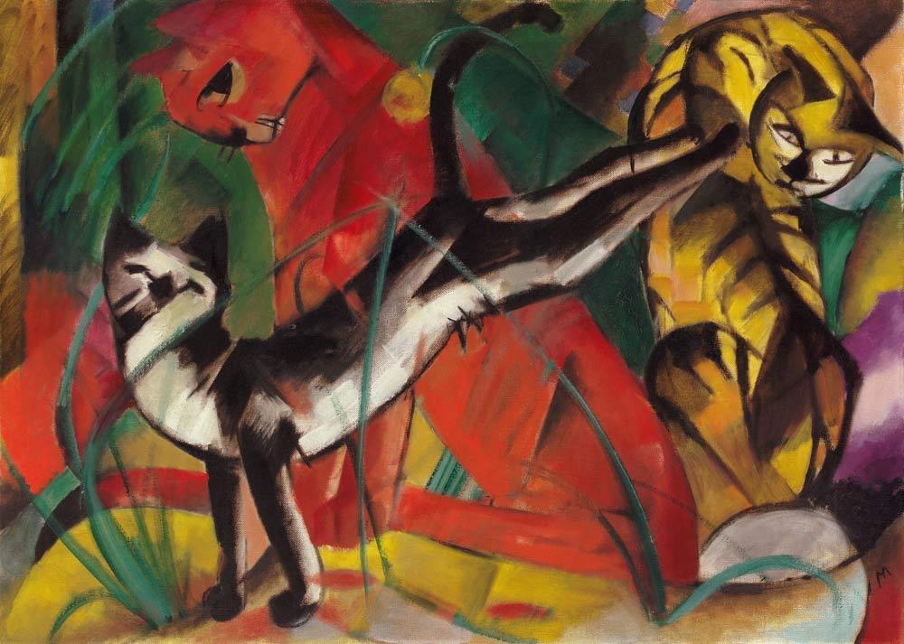 Three cats, Franz Marc