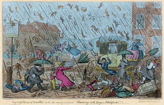 Very Unpleasant Weather, George Cruikshank, 1820