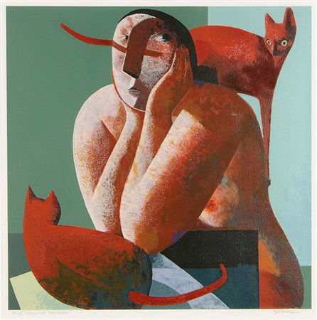 2-Two-Cats-and-a-Woman-Peter-Harskamp