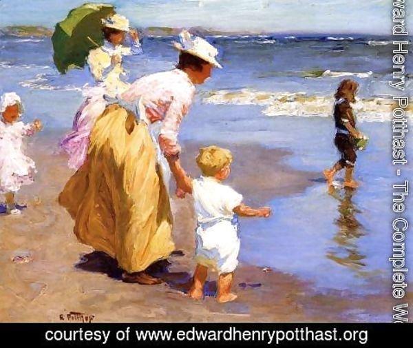 At-The-Beach Edward Henry Potthast