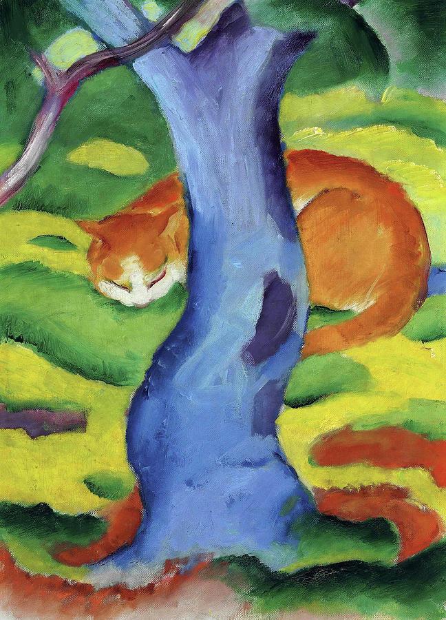 cat-behind-a-tree-1911-franz-marc