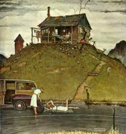 Changing a Flat, Norman Rockwell