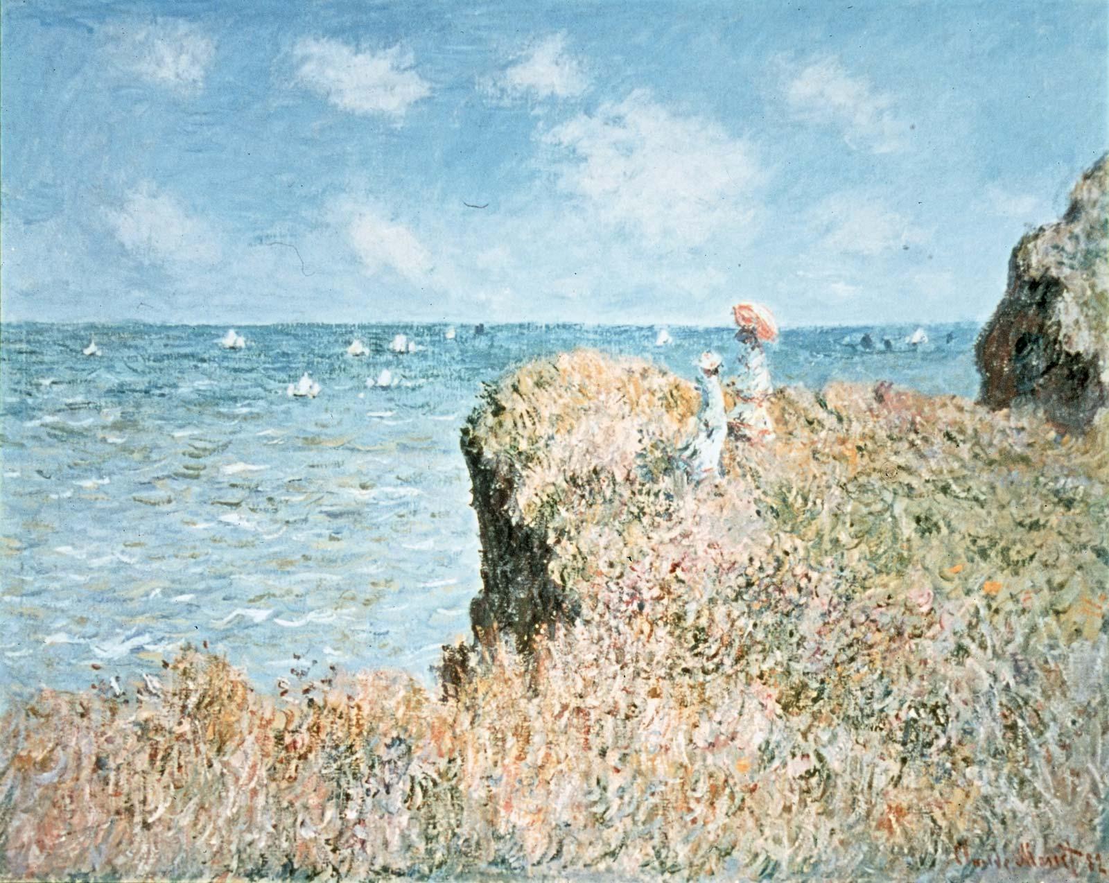 Claude Monet, The Beach at Sainte-Adresse