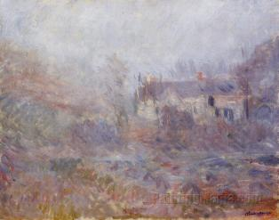 Houses at Falaise in the Fog, Claude Monet