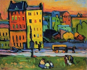Houses in Munich, 1908, Wassily Kandinsky
