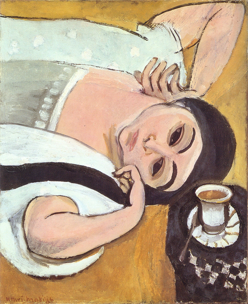 Laurette's head with a coffee cup,, Henri Matisse