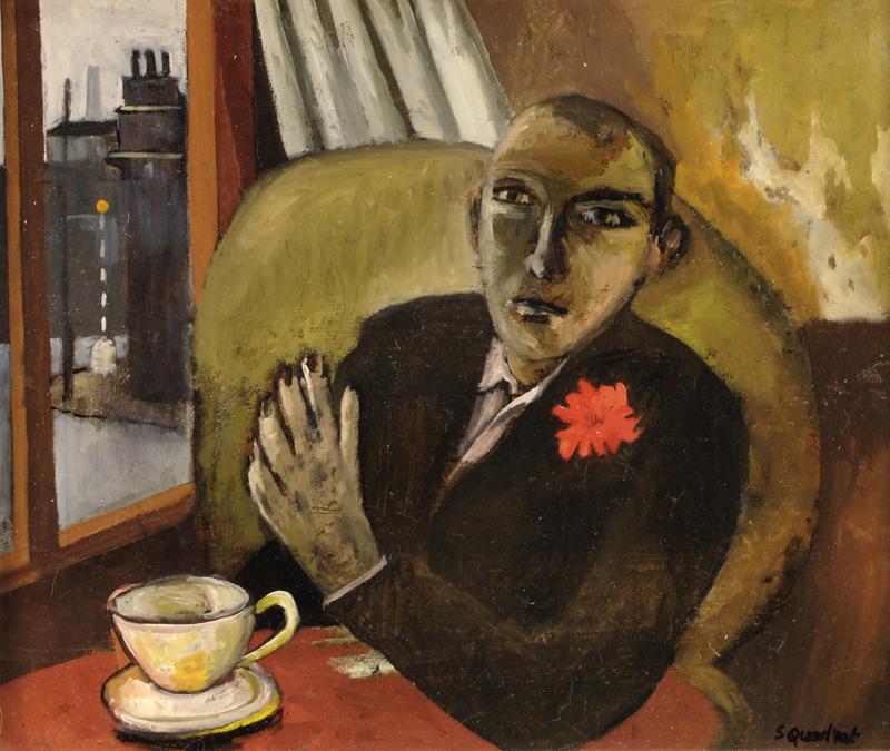 Simon Quadrat Man Drinking Tea