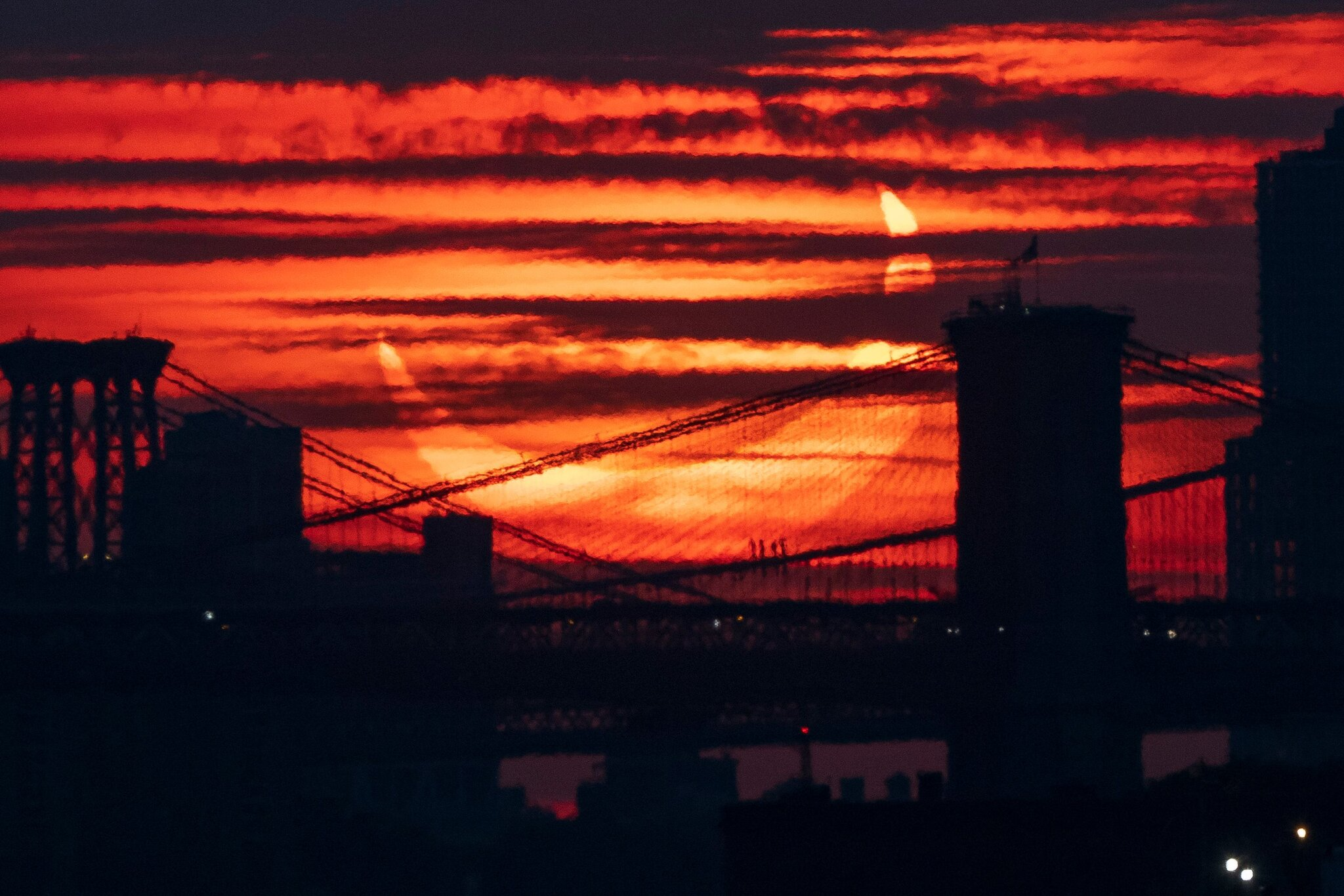 The eclipse viewed from Brooklyn Thursday morning. Justin Lane EPA, via Shutterstock