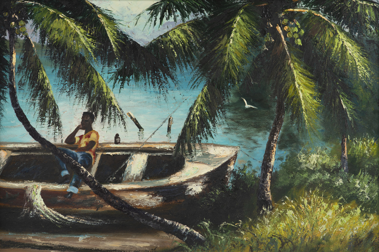 Untitled and undated painting by Harold Newton