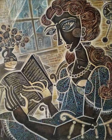 Woman reading a book by Enach Dumitru Bogdan (Romania)