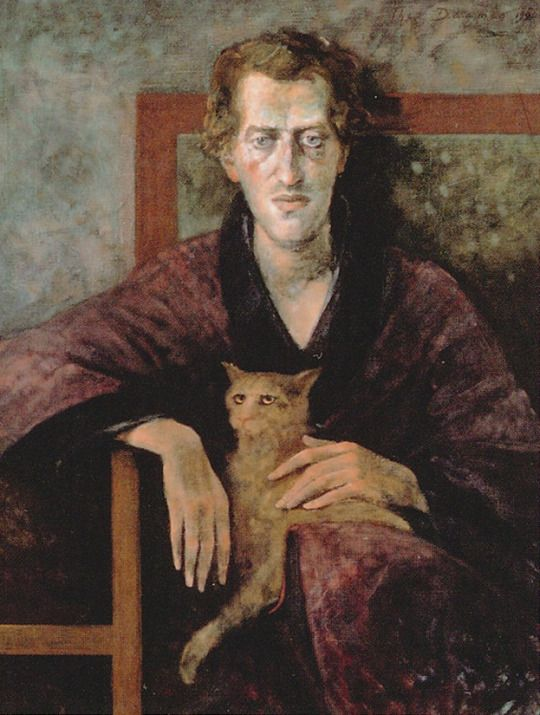 Portrait of Gerrit Komrij - Theo Daamen, 1986 Dutch, b.1939