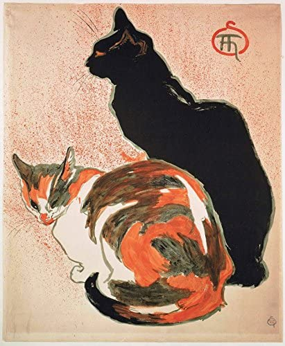 Two Cats, by Theophile Steinlen, 1899