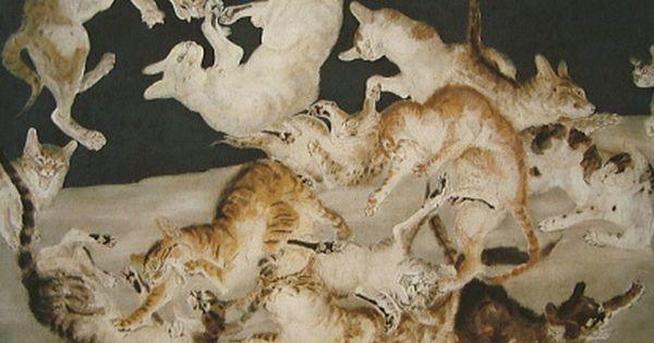 Cat Fight, Leonard Tsuguharu Foujita