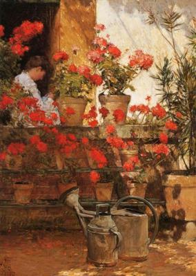 Childe Hassam, Geraniums, 1888