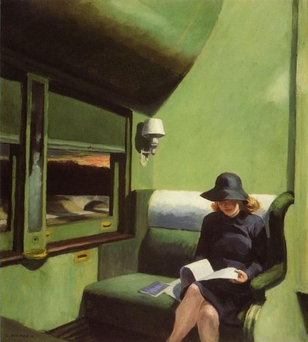 COMPARTMENT C, CAR 293 (1938) BY EDWARD HOPPER