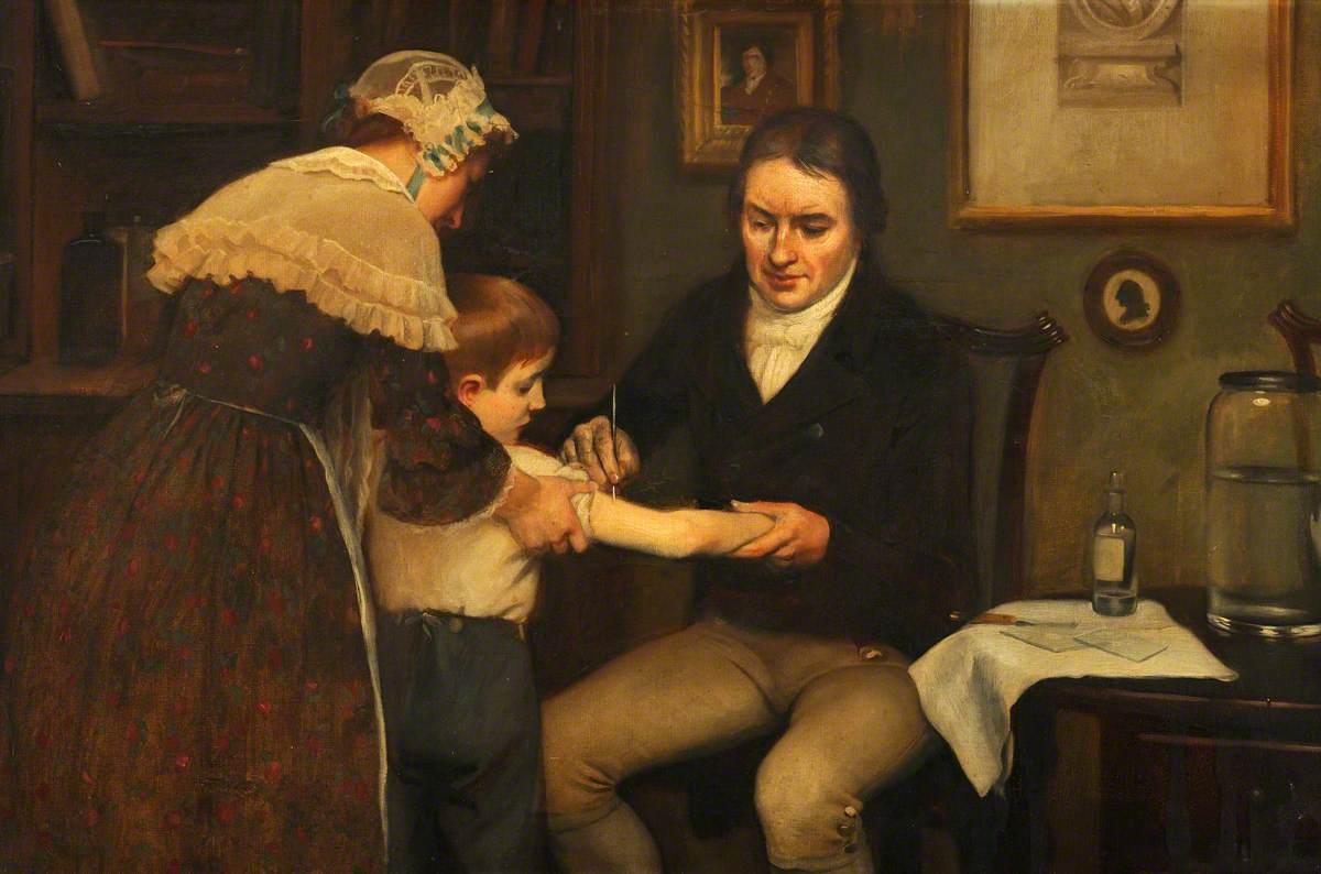 Board, Ernest, 1877-1934; Vaccination: Dr Jenner Performing His First Vaccination, 1796