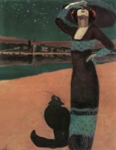 Faragó,_Géza_-_Slim_Woman_with_a_Cat_(1913)