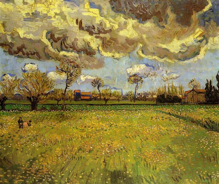 landscape-under-a-stormy-sky-1888, Vincent Van Gogh