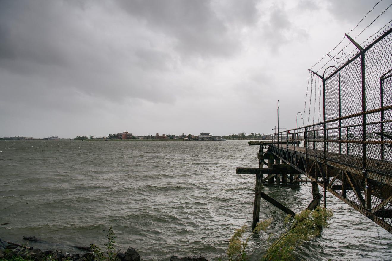 Mississippi River ahead of Hurricane Ida, Aug. 29, 2021