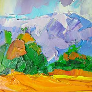 Moheb Sadiq, Impressionist painting of Afghani landscape