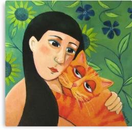Orange cat, vicky mount