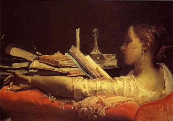 READING (CLARA) (CIRCA 1865) FEDERICO FARUFFINI