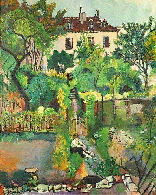Suzanne Valadon, The Gardens at Cortot Street, Montmartre, 1916