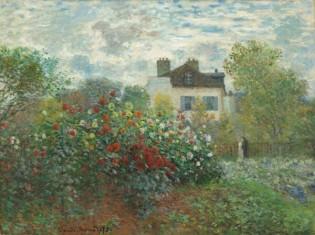 The Artist's Garden in Argenteuil, Dahlias, 1873's Garden in Argenteuil, 1873, Claude Monet