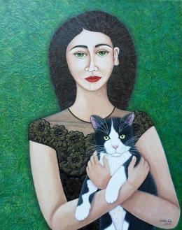 Woman with cat soul, Madalena Lobao-Tello
